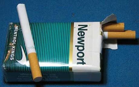 Un paquete de los cigarrillos mentolados Newport a los que se volvió adicta Marie Evans en su infancia.