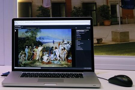 Presentación de Google's Art Project en la Tate Gallery de Londres.