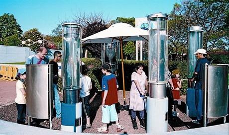 Alta tecnología israelí 8 Un grupo de escolares visita el Jardín de la Ciencia en el Instituto Weizmann.