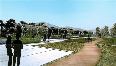 Imagen virtual que reconstruye el aspecto que tendrá este parque metropolitano.