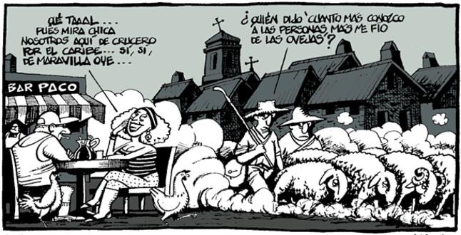 Viñeta de Ferreres en El Periódico (1.08.2010)