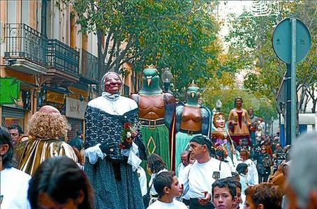 'Cercavila' en el casco antiguo de Sant Andreu.