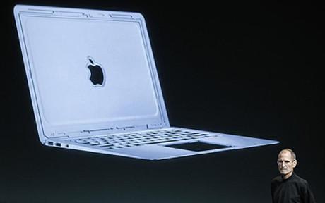 Steve Jobs, en la presentación del nuevo Macbook Air.