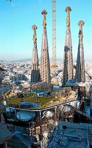Zona donde empiezan las cuatro torres de los evangelistas, el  viernes.