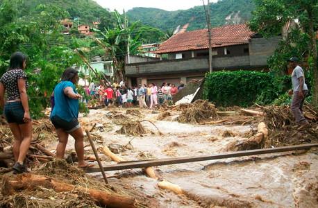 Los efectos de las lluvias en el estado de Río de Janeiro.