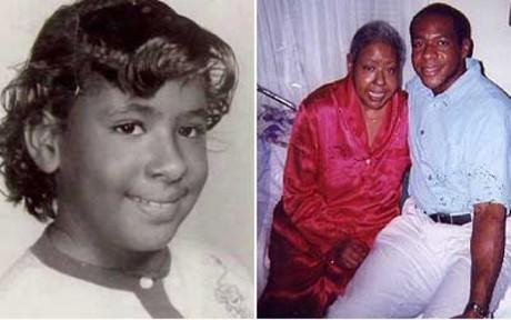 Marie Evans, cuando tenía 9 años y con su hijo Will, en el 2002, poco antes de morir.